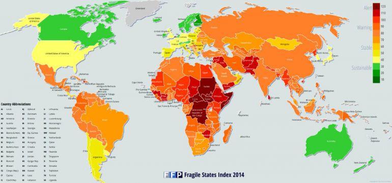 Статьи Общество, Рейтинг «Хрупкости государств» 2015 года. Все последние места достались Северным странам | Новый рейтинг «Хрупкости государств». Все последние места достались Северным странам