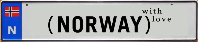Калейдоскоп, В Норвегии могут появиться именные номера | Министерство транспорта Норвегии изучает возможность введения именных автомобильных номеров в стране.