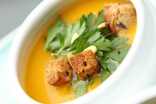 Рецепты, Græskarsuppe  - тыквенный суп с кокосовым молоком и имбирем | Græskarsuppe  - тыквенный суп с кокосовым молоком и имбирем