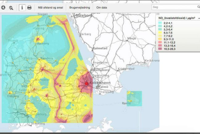 Полезная информация, В интернете можно проверить качество воздуха в любой точке Дании | В интернете можно проверить качество воздуха в любой точке Дании